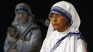 La hermana Nirmala, en una conferencia en el 2007.