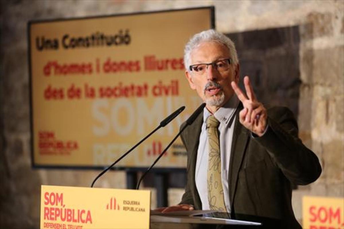 Santi Vidal, duranteun acto de la campaña electoral del 2015.