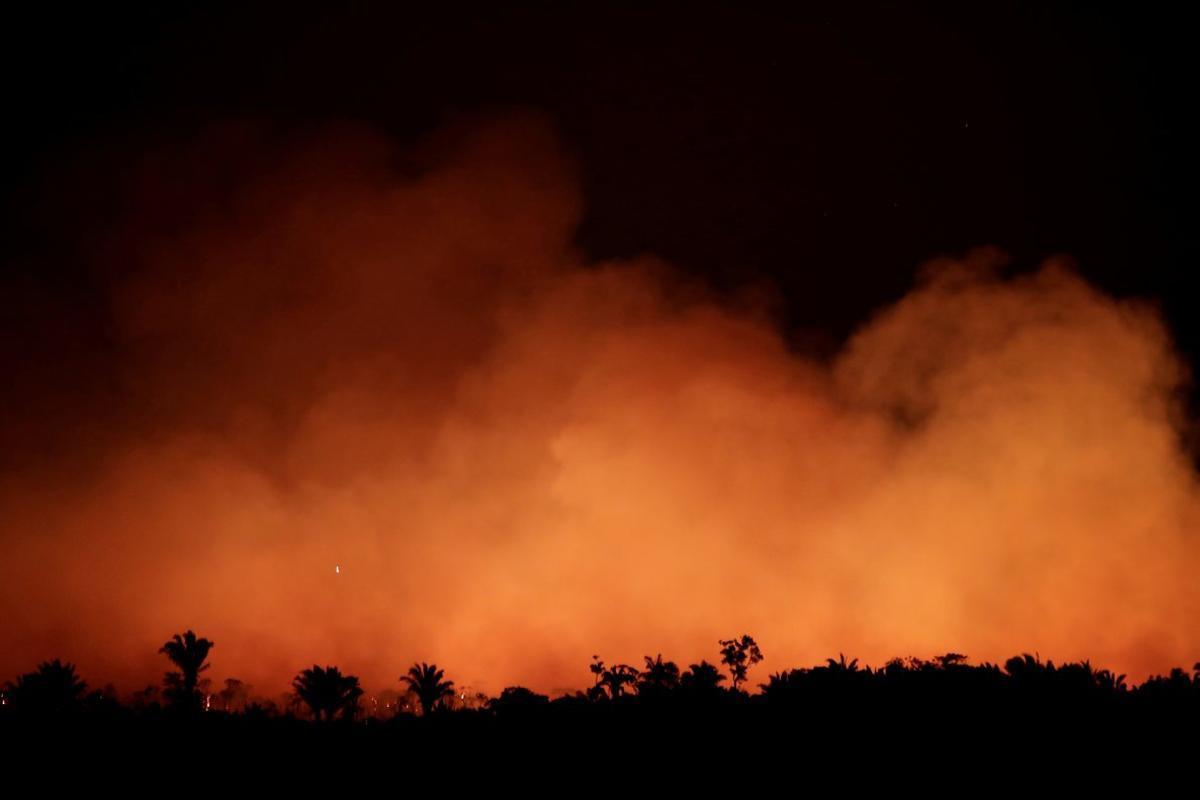 Incendios forestales en la región del Amazonas en Brasil.