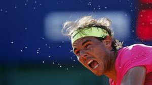 Rafael Nadal, durant un partit del recent Obert d'Argentina, a Buenos Aires.
