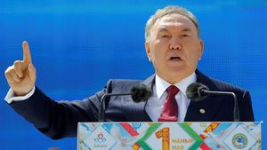 Nursultán Nazarbáyev, presidente de Kazajistán,
