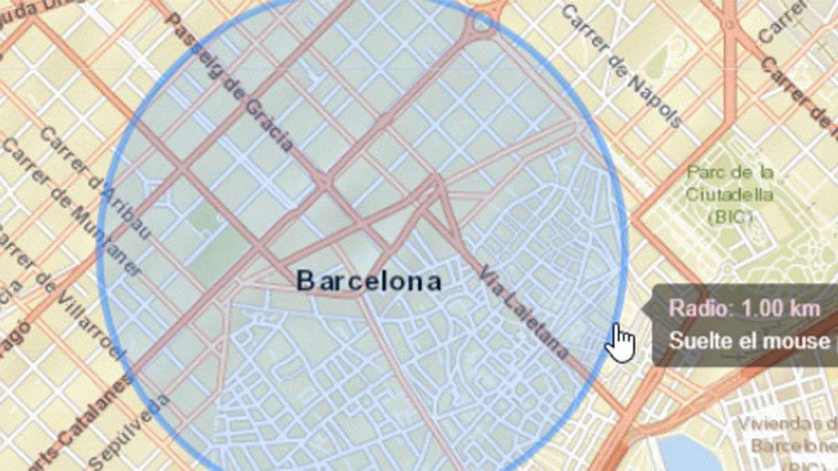 ¿Cómo calcular un kilómetro a la redonda desde mi casa para salir a pasear y con los niños?