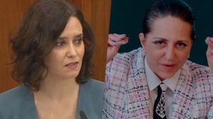 Isabel Díaz Ayuso y Noemí Argüelles (Yolanda Ramos), personaje de 'Paquita Salas'.