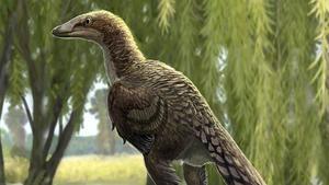 Dibujo que recrea al 'Tamarro insperatus', el dinosaurio identificado a partir de un fósil encontrado en la Conca Dellà, en Lleida
