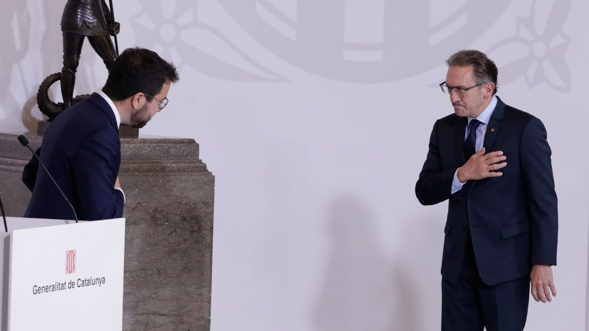 Pere Aragonès y Jaume Giró.