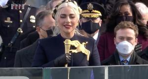 Lady Gaga en la toma de posesión de Biden