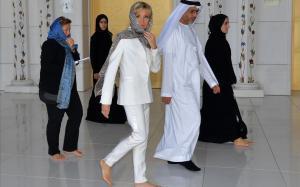 Brigitte Macron, a la Gran Mesquita d'Abu Dhabi