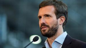 Pablo Casado, el pasado 2 de julio en un mitin en Ourense.