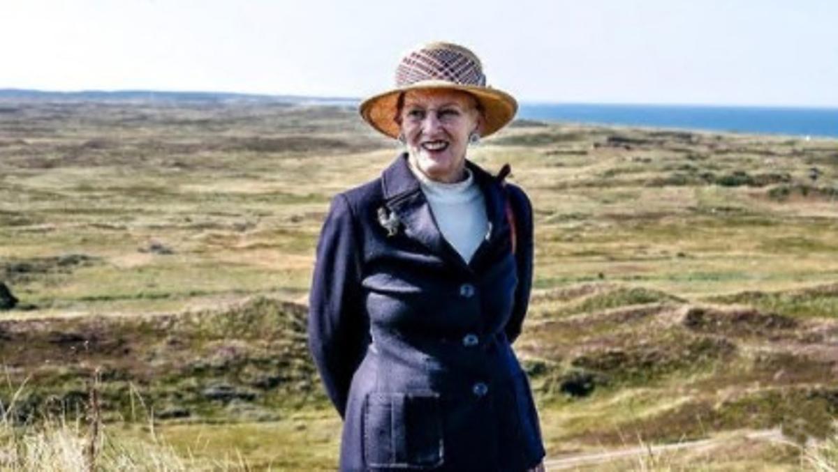 La reina Margarita, en una reciente visita al municipio danés de Thisted.