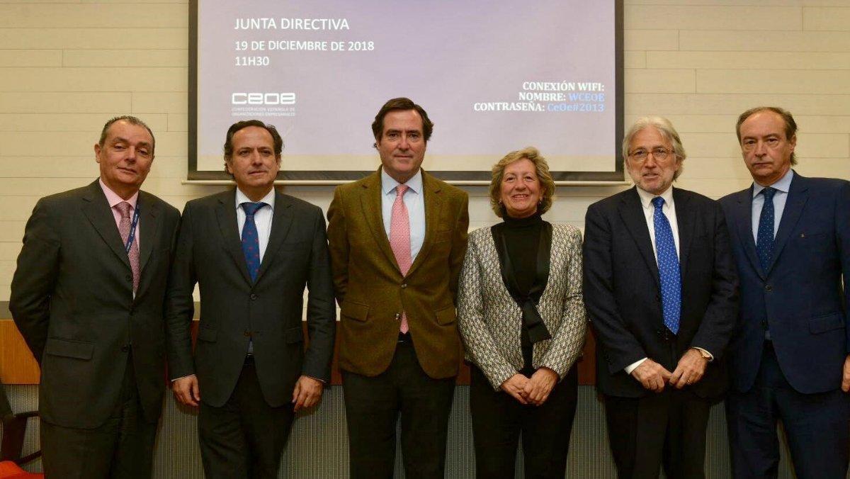 Garamendi nomena el seu equip directiu en la CEOE