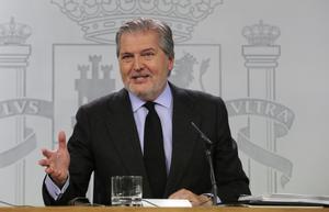 El ministro portavoz, Íñigo Sánchez de Vigo, durante la rueda de prensa del Consejo de Ministros.