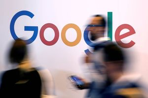 FILE PHOTO:    FILE PHOTO: The logo of Google is pictured during the Viva Tech start-up and technology summit in Paris, France, May 25, 2018. REUTERS/Charles Platiau/File Photo - RC1C19D495F0