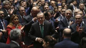 Erdogan, durante un acto del día del Doctor en Ankara, el 14 de marzo.