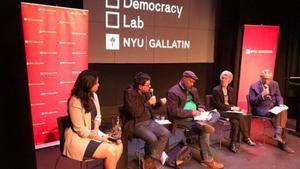 Gerardo Pisarello intervieneen la cumbre de Nueva York 'Ciudades para las personas'.