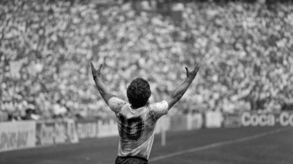 Maradona, en el Mundial de 1986 en México.