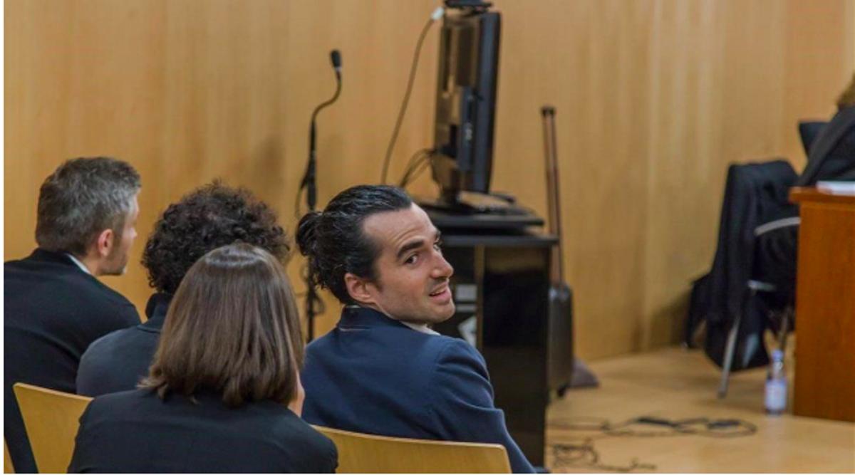 Alberto G. S., fundador de Seriesyonkis, durante el juicio de 2019