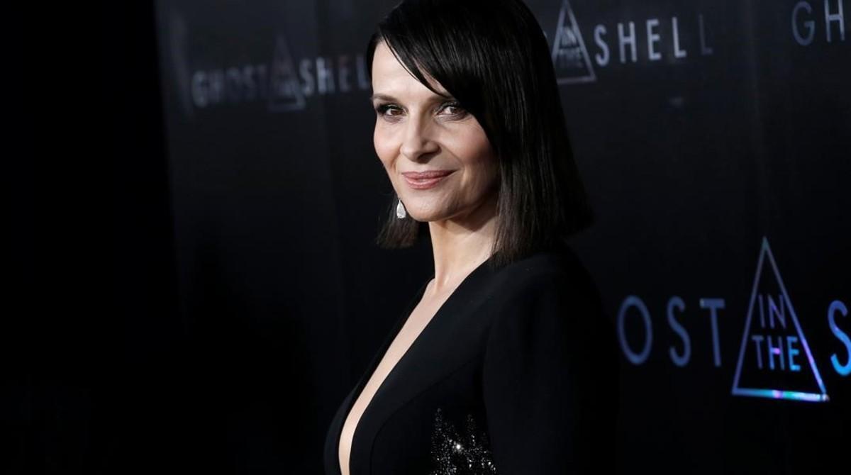 Juliette Binoche, en la presentación de 'Ghost in the shell' el pasado 29 de marzo en Nueva York.