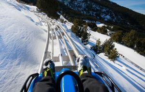 El Màgic Gliss de Grandvalira, un tobogán de 555 metros de bajada.