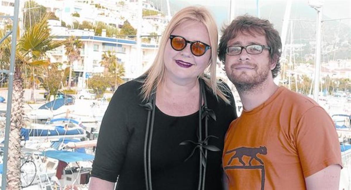 Veronika Franz y Severin Fiala, después de la presentación de 'Goodnight mommy', ayer en Sitges.