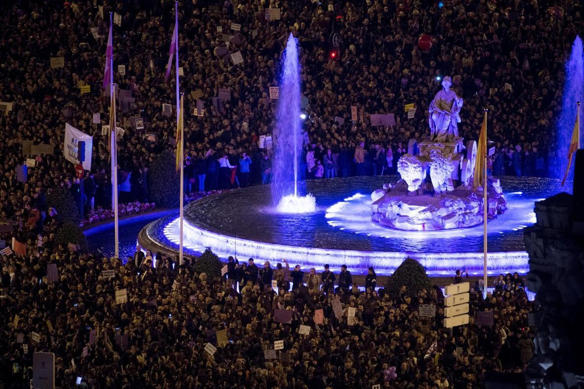 Imagen de archivo de la marcha feminista de 2019 en Madrid