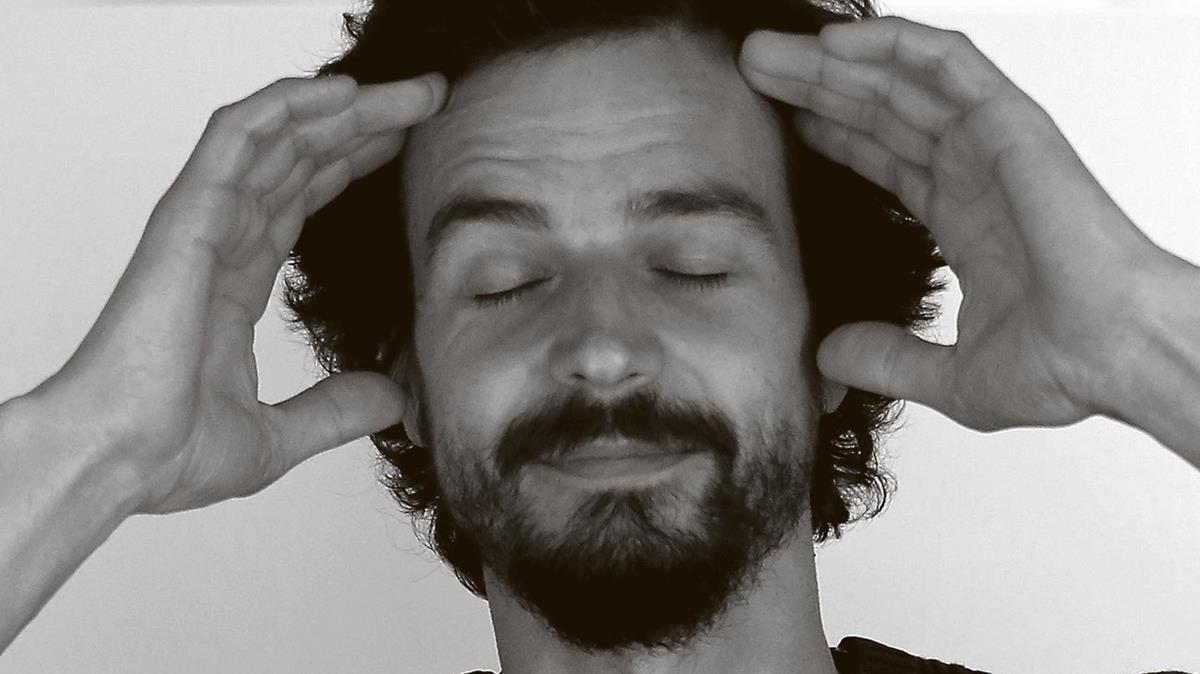Pablo Servigne, en el Palau Macaya de Barcelona, donde dio una conferencia.