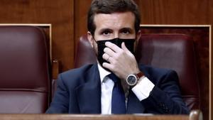 Pablo Congreso, en octubre, en el Congreso de los Diputados.