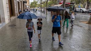 Las lluvias dejan el sur y se trasladan al Pirineo de Catalunya