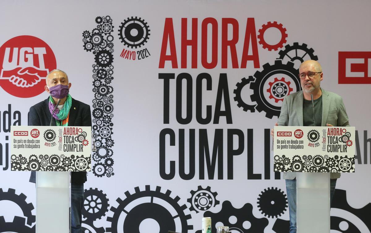 Els sindicats assenyalen al Govern aquest Primer de Maig: «Ara toca complir»
