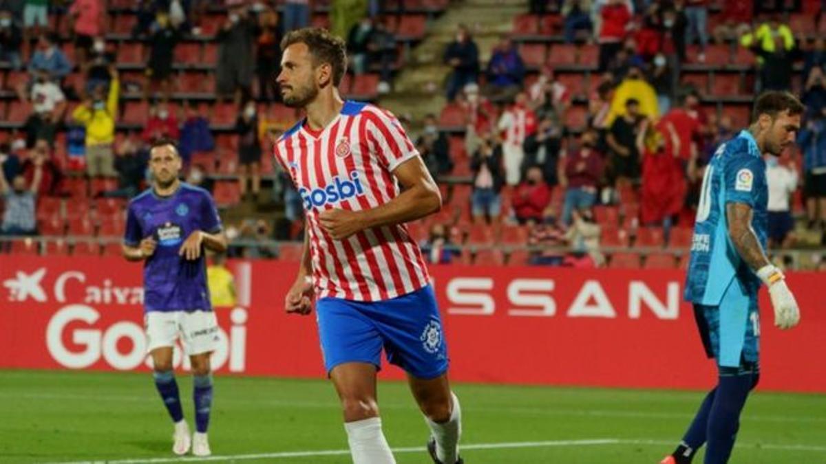 Stuani, autor del gol ante el Valladolid.