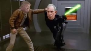 Trump ridiculitza Bloomberg amb una paròdia de 'Star wars'