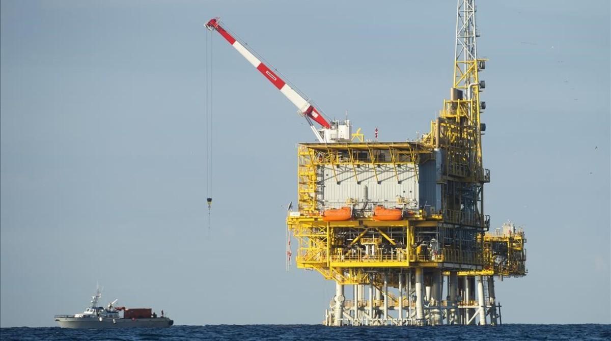 La plataforma de almacenamiento de gas Castor, en una imagen del año 2013.