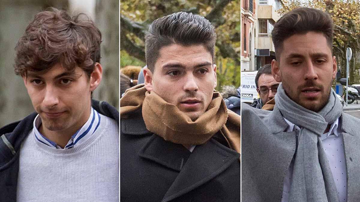 Tres exjugadores de La Arandina, a juicio por agresión sexual a una menor. En la foto, Carlos Cuadrado, Raúl Calvo y Víctor Rodríguez (de izquierda a derecha).