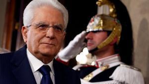 El presidente de Italia, Sergio Mattarella.