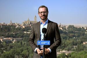 El portavoz del Grupo Popular en el Senado, Javier Maroto, este 28 de agosto de 2021 en Segovia.