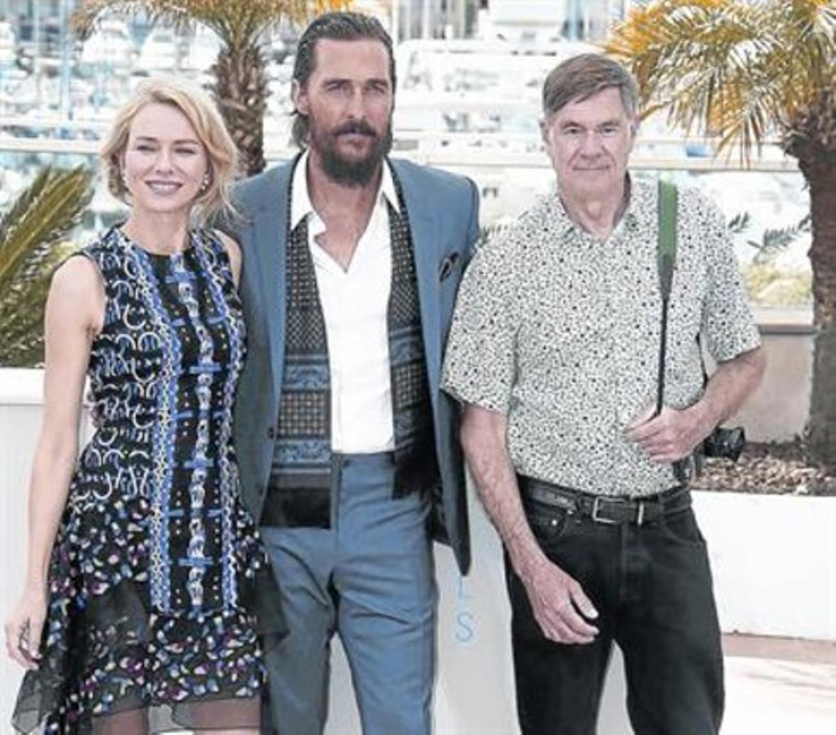 Gus Van Sant (derecha) con Naomi Watts y Matthew McConaughey.