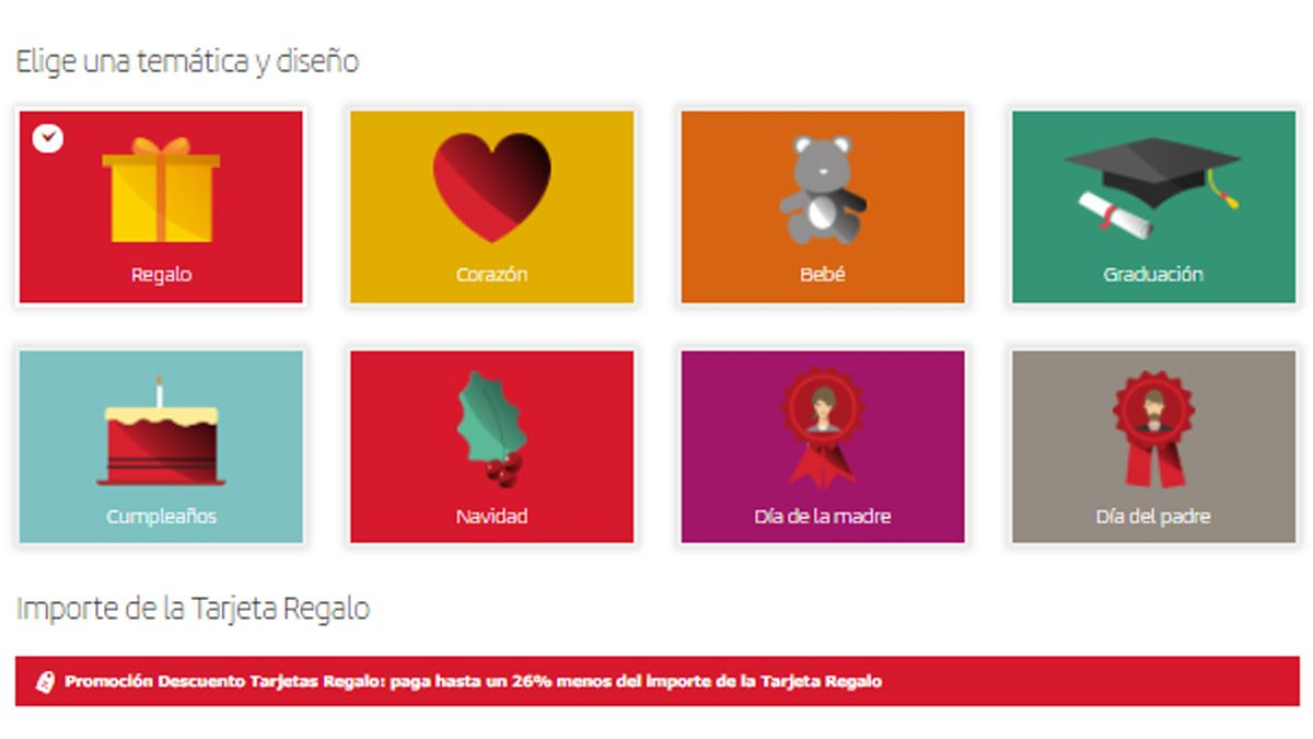 Campaña de Iberia de sus tarjetas regalo.