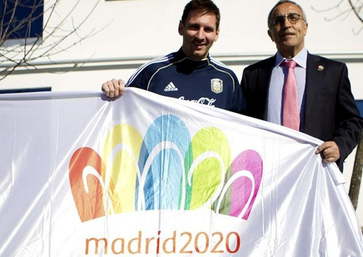 Messi y Blanco, en Buenos Aires.