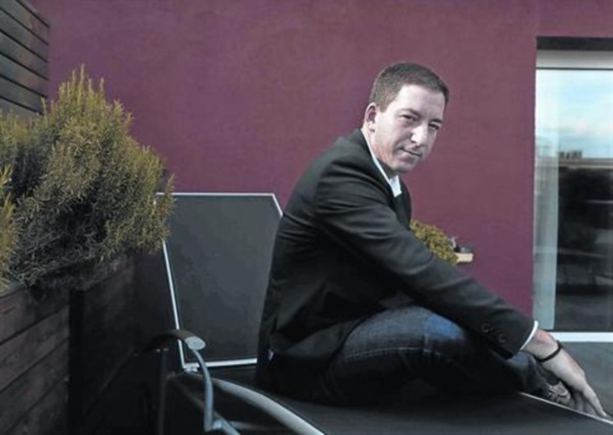 Glenn Greenwald,esta semana, en Madrid,donde ha presentado su libro.