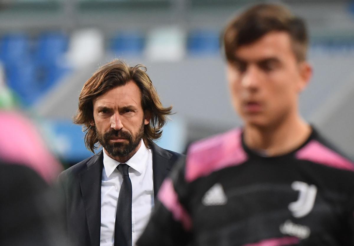 Andrea Pirlo, con gesto serio, en el partido del pasado miércoles ante el Sassuolo.