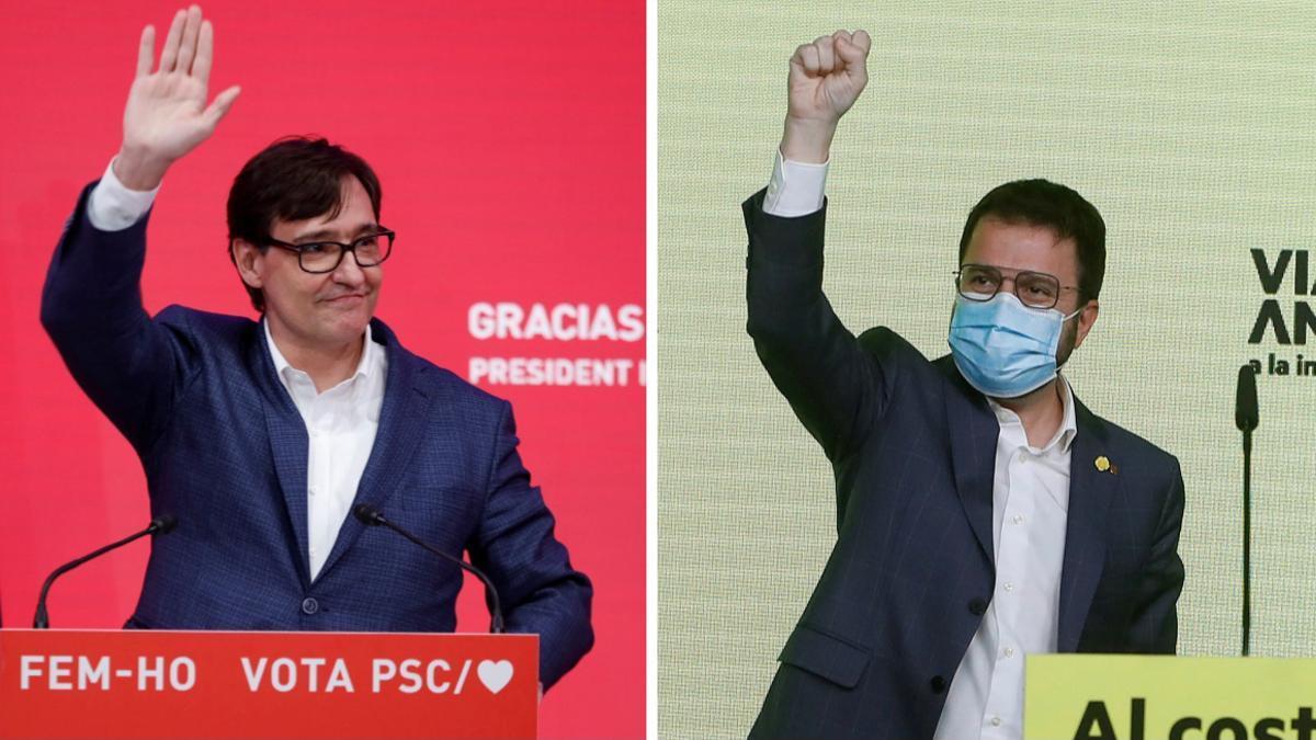 Salvador Illa y Pere Aragonès.