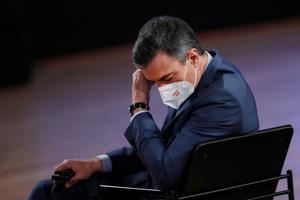 El presidente del Gobierno, Pedro Sánchez, en un momento de la Cumbre Social de la UE en Oporto, Portugal, el pasado 7 de mayo.