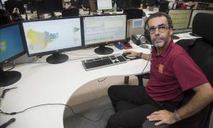 Carles Vidal, jefe de la sala de teleoperadores del 112.