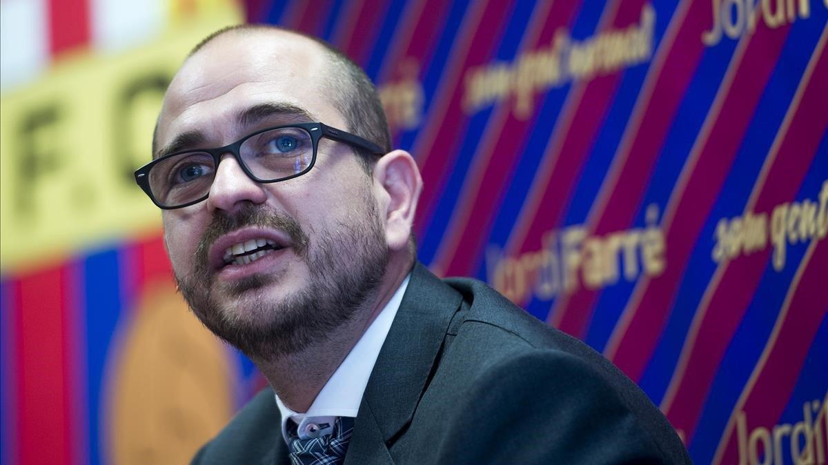 Jordi Farré, impulsor de la moción de censura en el Barça.