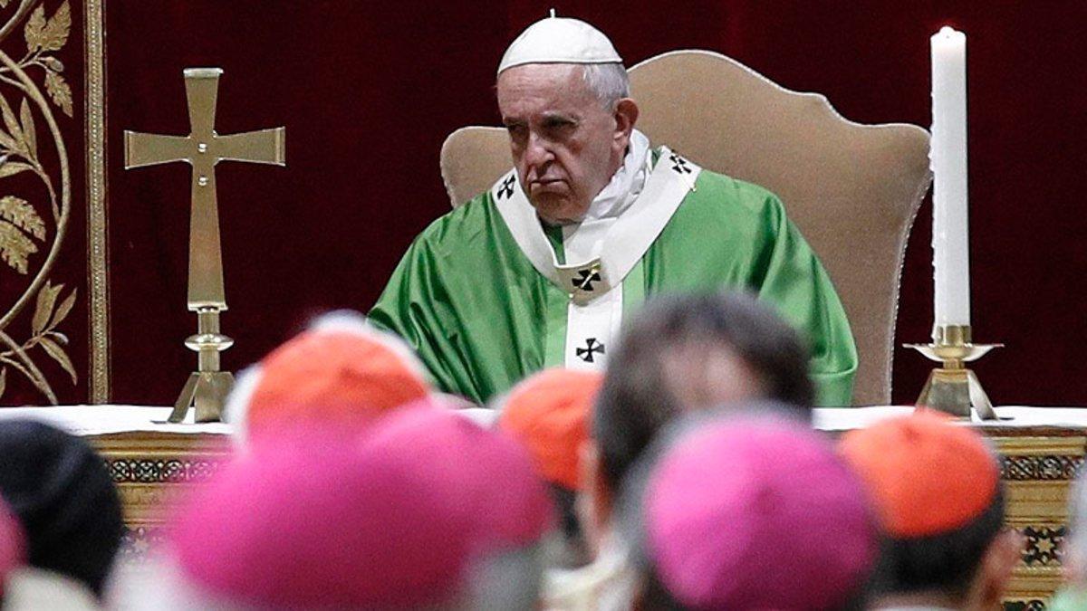 El papa Francisco, en la misa celebrada tras la cumbre para la Protección de la Infancia en la Iglesia.