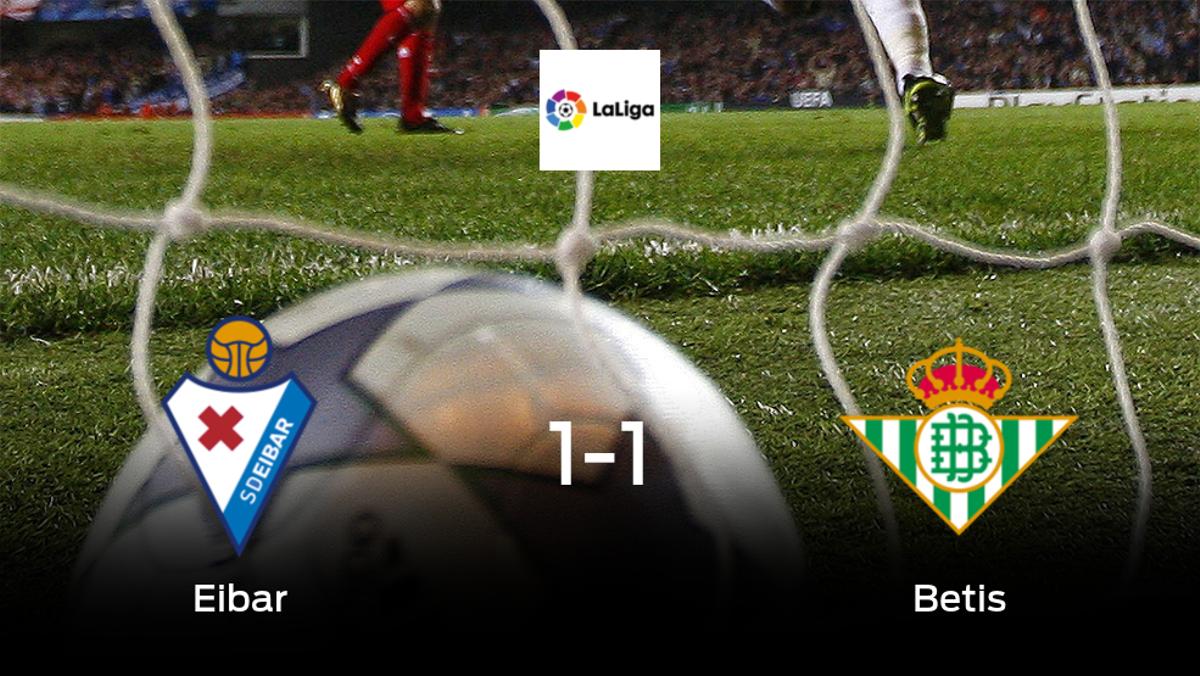 El Eibar y el Real Betis reparten los puntos tras empatar a uno