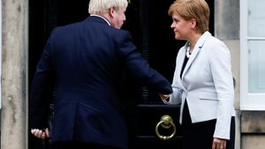 Boris Johnson y Nicola Sturgeon, en una imagen de archivo.