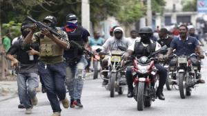 Enfrentamientos armados en Haití.