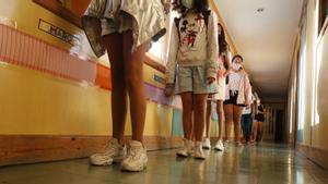 Vuelta al cole el año pasado en la Escola L' Esperança.