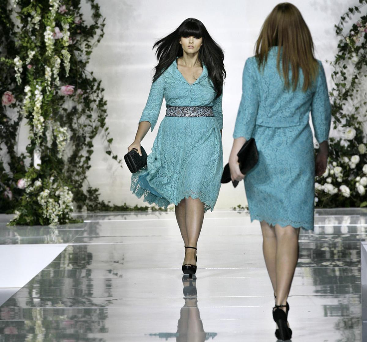 Desfile de moda en la Feria de Milán.