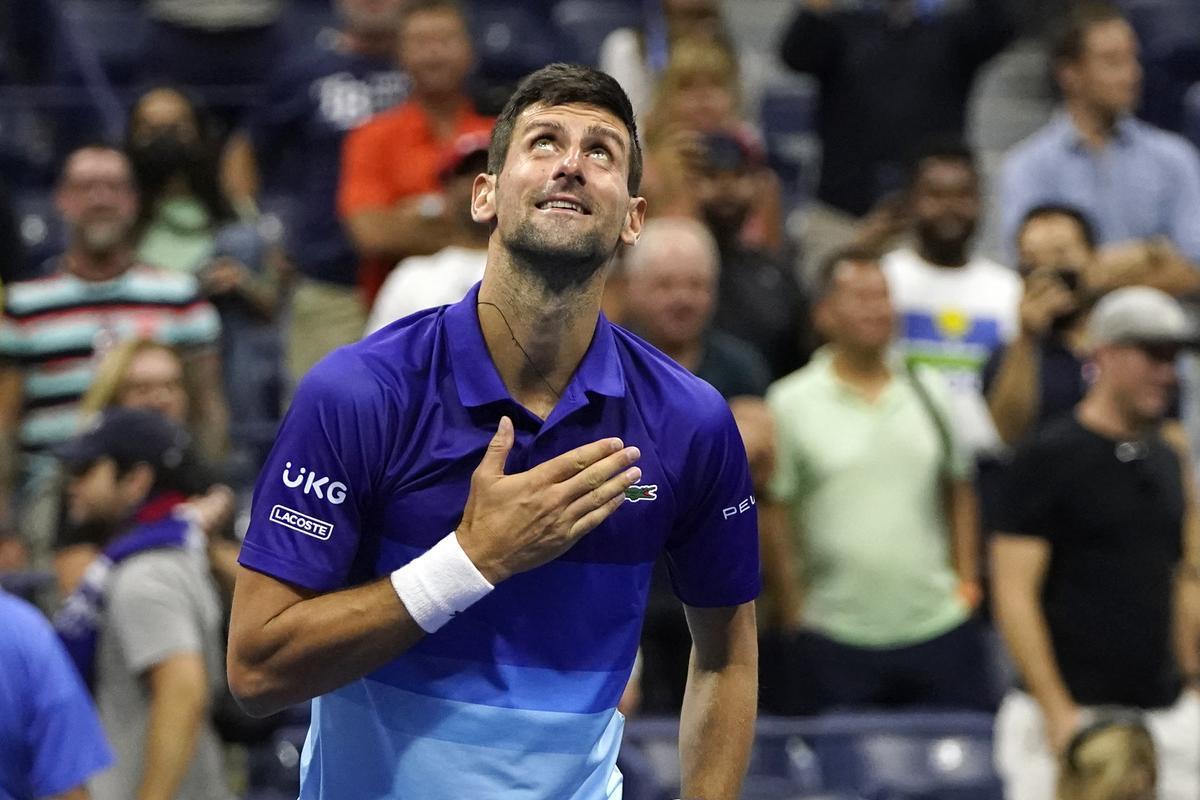 Novak Djokovic celebra el pase a semifinales.
